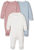 Mamas and Papas Baby Girls' 3Pk Core Aio Footies,12-18 Months pack of 3