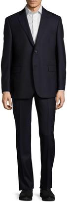 Saks Fifth Avenue Striped Slim-Fit Wool Suit