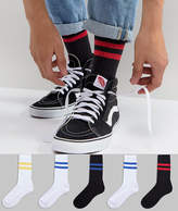 Asos Sports Style Socks With Colour Pop Stripes 5 Pack