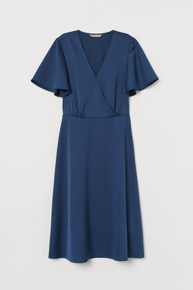 H&M Satin wrap dress