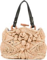Jamin Puech straw bag - women - Raffia/Leather - One Size