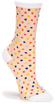 Kate Spade Dotted Sheer Crew Trouser Socks