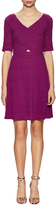 Plenty by Tracy Reese Women's Laced V-Neck Fit And Flare Dress