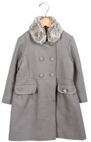 Tartine et Chocolat Girls' Wool Double-Breasted Coat
