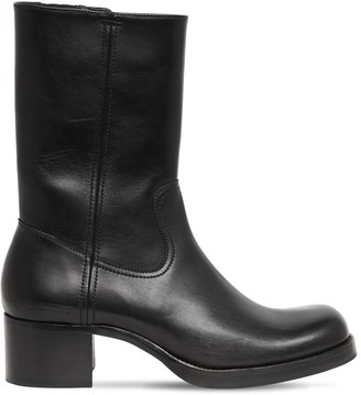 DSQUARED2 55mm Leather Tall Zip Boots
