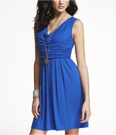 Express Drape-Neck Sash-Tie Dress