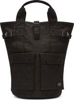 Porter Black Denim Convertible Backpack