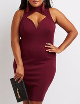Charlotte Russe Plus Size Mock Neck Cut-Out Bodycon Dress