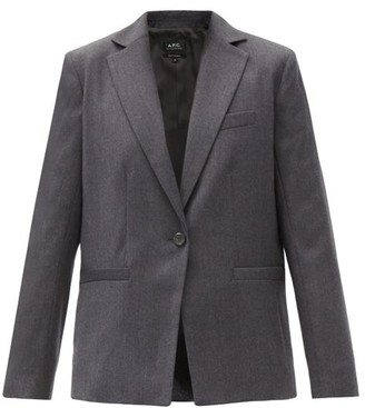 A.P.C. Savannah Single-breasted Wool Blazer - Dark Grey