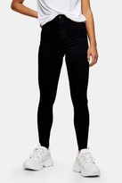 Topshop Womens Petite Black Hold And Power Joni Jeans - Black