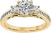 MODERN BRIDE 5/8 CT. T.W. Diamond 14K Yellow Gold 3-Stone Engagement Ring
