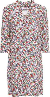 Claudie Pierlot Floral-print Crepe Mini Dress