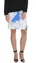 Tibi Splatter Pencil Skirt