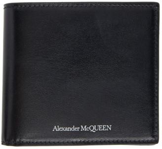 Alexander McQueen Black Logo Coin Bifold Wallet