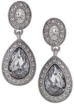Carolee Earrings, Crystal Drop