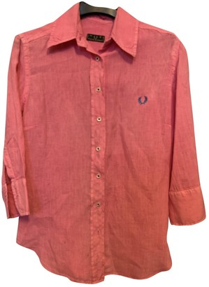 Fred Perry Pink Linen Top for Women