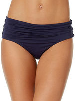 Anne Cole Live-In Colorhi Waist Shirred Swim Bottom
