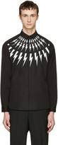 Neil Barrett Black Thunderbolt Shirt