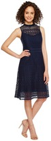 Jessica Simpson Geo Lace Mock Neck Dress JS7A9590 Women's Dress