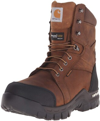 "Carhartt Men's 8"" Rugged Flex Insulated Waterproof Breathable Safety Toe Leather Work Boot CMF8389"