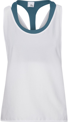 Iris & Ink Layered Ribbed Jersey Tank And Stretch Sports Bra
