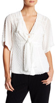 Nanette Lepore Swiss Dot Silk Blouse