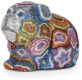 Judith Leiber Multicolor Crystal Dog Minaudiere