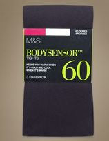 Marks and Spencer 3 Pair Pack 60 Denier Body SensorTM Opaque Tights