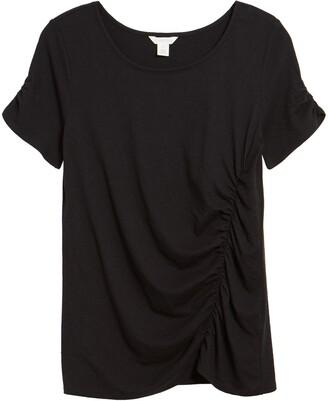 Caslon Ruched Knit T-Shirt
