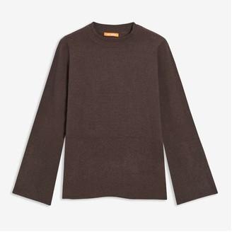 Joe Fresh Women's Rib Trim Sweater, Powder Blue (Size M)