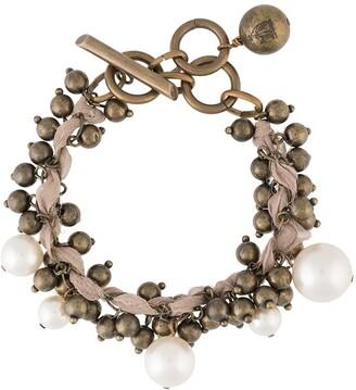 LANVIN Pre-Owned Faux-Pearl Beaded Bracelet