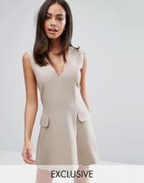 Love Tailored A Line Mini Dress with Pockets