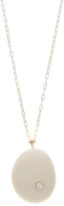 Cvc Stones Touch Diamond & 18kt Gold Pendant Necklace - White