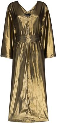 HANEY kaftan style V-neck midi dress