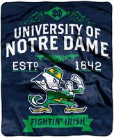 Bed Bath & Beyond University of Notre Dame Plush Raschel Throw Blanket