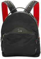 Christian Louboutin Backloubi Small Nylon Backpack, Black