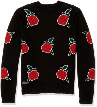 Lacoste Mens Long Sleeve Live Roses Printed Sweater Sweater