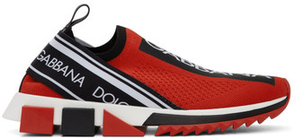 Dolce & Gabbana Red and Black Sorrento Sneakers