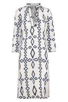 Libelula Long Beach Dress - Zig Zag Diamond Print - White