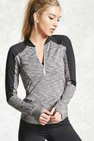 Forever 21 Active Marled Panel Pullover