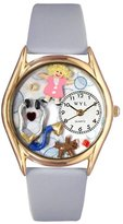 Whimsical Watches Women's C0610017 Classic Gold Pediatrician Light Blue Leather And Goldtone Watch