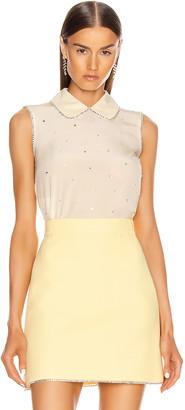 Miu Miu Sleeveless Jewel Top in Vaniglia | FWRD
