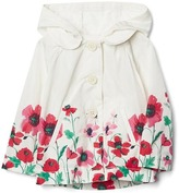 Gap Floral border raincoat