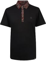Pretty Green Turner Paisley Collar Polo Shirt, Black