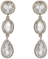 Malcolm Betts Women's White Diamond Triple-Drop Earrings