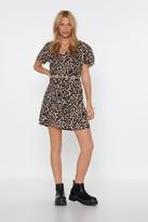 Nasty Gal Womens Don'T Spot Dalmatian Mini Dress - Beige - 6, Beige