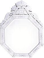 One Kings Lane Crown Venetian Mirror, Clear