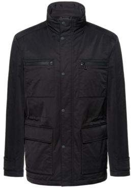 Slim-fit field jacket in wadded water-repellent fabric