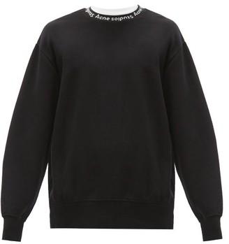 Acne Studios Logo-jacquard Jersey Sweatshirt - Black