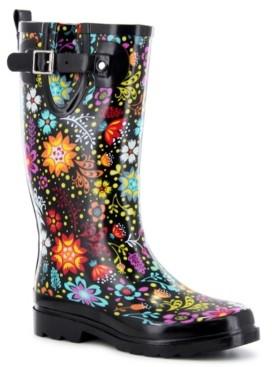 Western Chief Women's Regular Printed Tall Rubber Rain Boots Women's Shoes